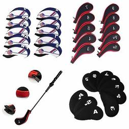 10Pcs Outdoor Sport Golf Club Iron Head Covers Putter Head P