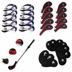 10Pcs Outdoor Sports Golf Club Iron Head Covers Putter Head