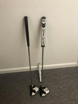 """Odyssey 2 Ball Center Shafted putters 35 """" long DFX & Whit"""