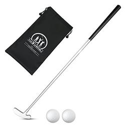 LEAGY 3 Sections Portable Best White Zinc Alloy Two-Way Putt