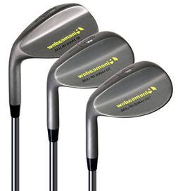 Pinemeadow Golf Men's 3 Wedge Set, Right Hand, Steel, Regula