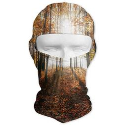 Balaclava Autumn Maple Forest Full Face Masks UV Protection