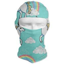 Balaclava Cartoon Unicorn Rainbow Cloud Full Face Masks Ski