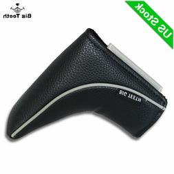 Black Magnetic Golf Putter Cover Blade Headcover For Scotty