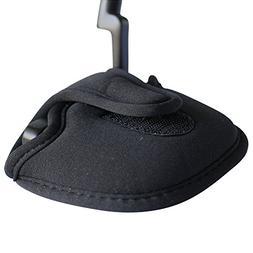 Pacific Golf Clubs Black Golf Putter Headcover Standard Size