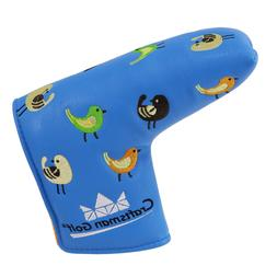 Blue Putter Cover Blade Headcover For Scotty Cameron Yes Pin