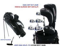 AGXGOLF BOYS LEFT HAND XLT COMPLETE GOLF SET wDRIVER+3WD+HYB