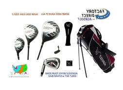AGXGOLF BOYS TEEN TOUR ONE GOLF CLUBS wDRIVER+3WD+HYBRID+IRO