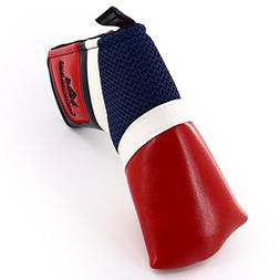 Craftsman Golf Classic Red White Blue Blade Putter Cover for
