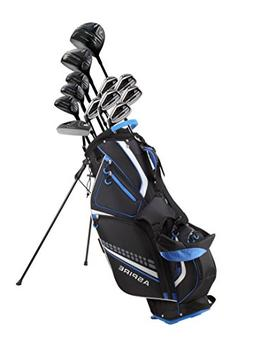 19 Piece Men's Complete Golf Club Package Set With Titanium