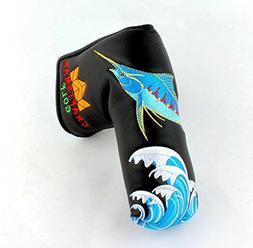 Craftsman Golf Black Embroidered Fish Magnetic Golf Putter C