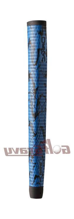 Winn DriTac X Midsize Pistol Putter Golf Grip, Blue/Black