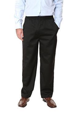 Pembrook Men's Full Elastic Waist Twill Casual Pant - XL - B