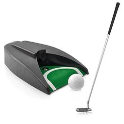 Executive Indoor Golf Putter with Putter, Ball, Hole & Carry