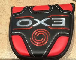 ODYSSEY EXO LARGE MALLET PUTTER HEADCOVER - Black Red Magnet