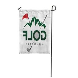 "Semtomn 12""x 18"" Garden Flag Ball Golf Mountain Cartoon Chal"