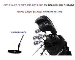 AGXGOLF GIRL'S LEFT HAND TWEEN MAGNUM COMPLETE GOLF CLUB SET