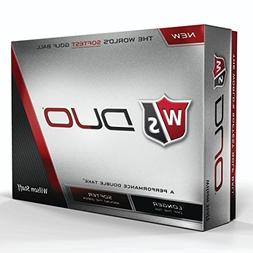 Wilson Staff Duo Golf Balls , White