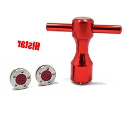 HISTAR 2Pcs Golf Custom red Weights + Red Wrench for Titleis