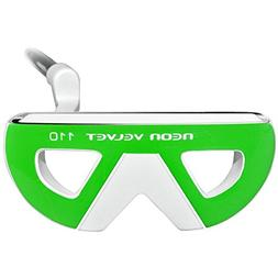 INTECH Golf Neon Velvet 110 Putter, Ladies, Right Hand, Gree