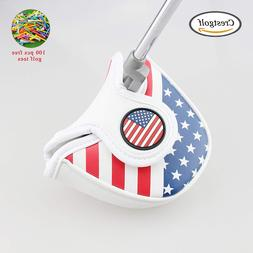 Golf Putter Cover USA America Mallet Putter Cover <font><b>H