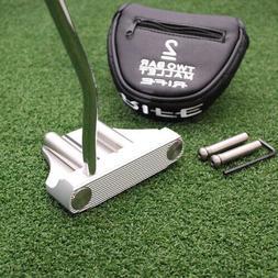 """Rife Golf - Two """"2Bar"""" Heel Shaft Mallet Putter 35"""" - Rare S"""