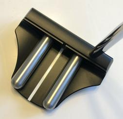 """Rife Golf- 2 Bar Mallet Heel Shafted Black Putter 34"""""""