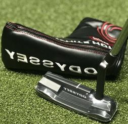 "Odyssey Golf White Hot Pro 2.0 Black #1 Blade Putter 35"" w/"