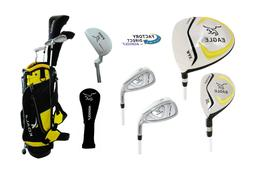 Junior Eagle Graphite Golf Club Set w/Stand Bag, Driver, Hyb