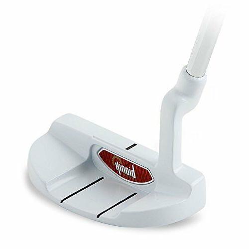 105 white golf putter rh semi mallet