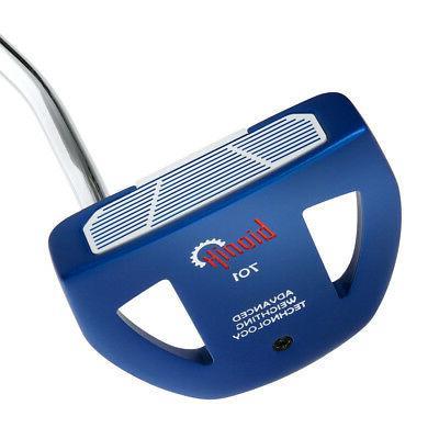 "Bionik 701 Blue Mallet Golf Putter-360g Black Std Grip-34"""