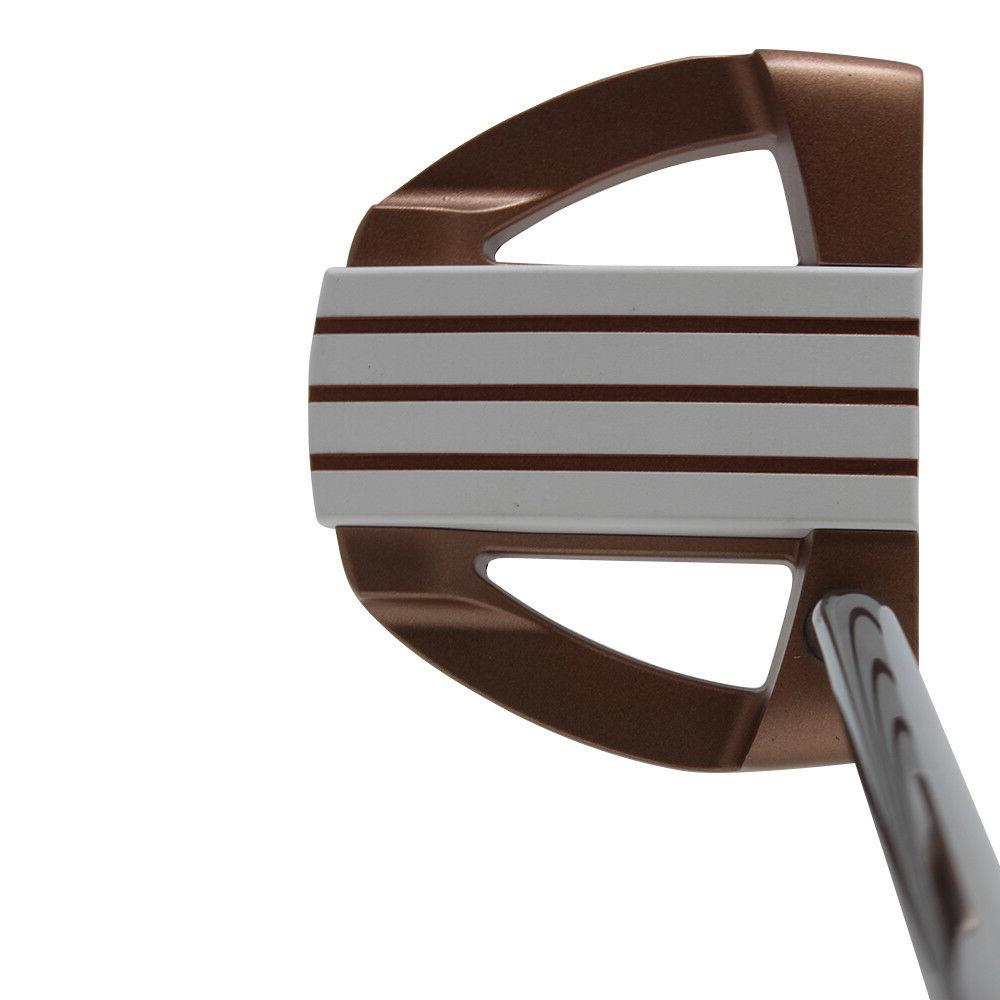 701 copper golf putter right handed mallet