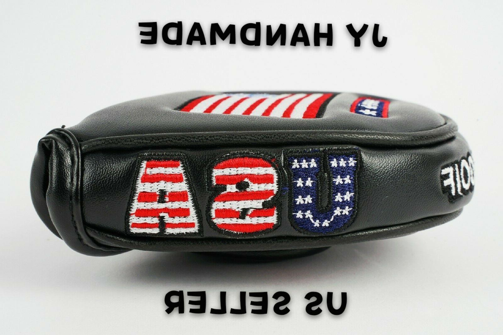 AMERICA BLACK Putter Cover Cameron 2ball US