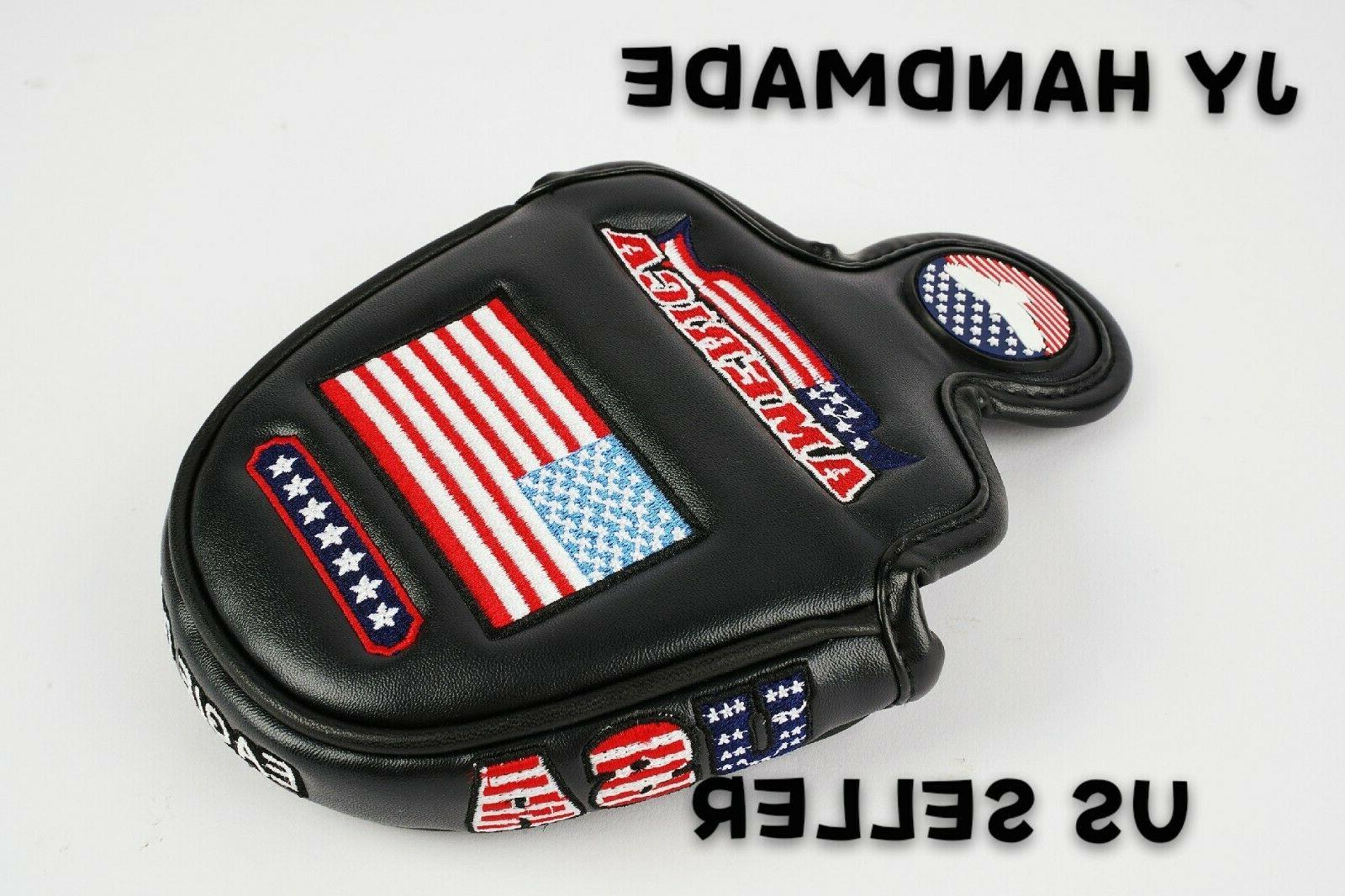 AMERICA MALLET BLACK Putter Cover Cameron Odyssey 2ball US