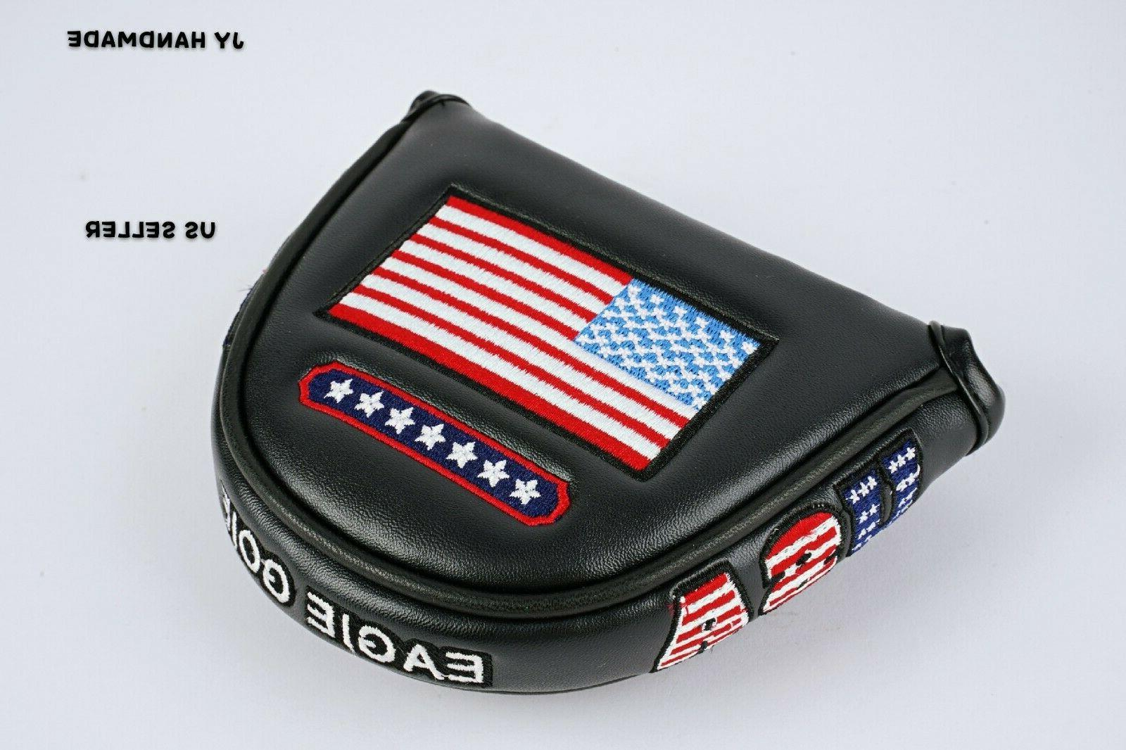 america mallet black putter cover headcover