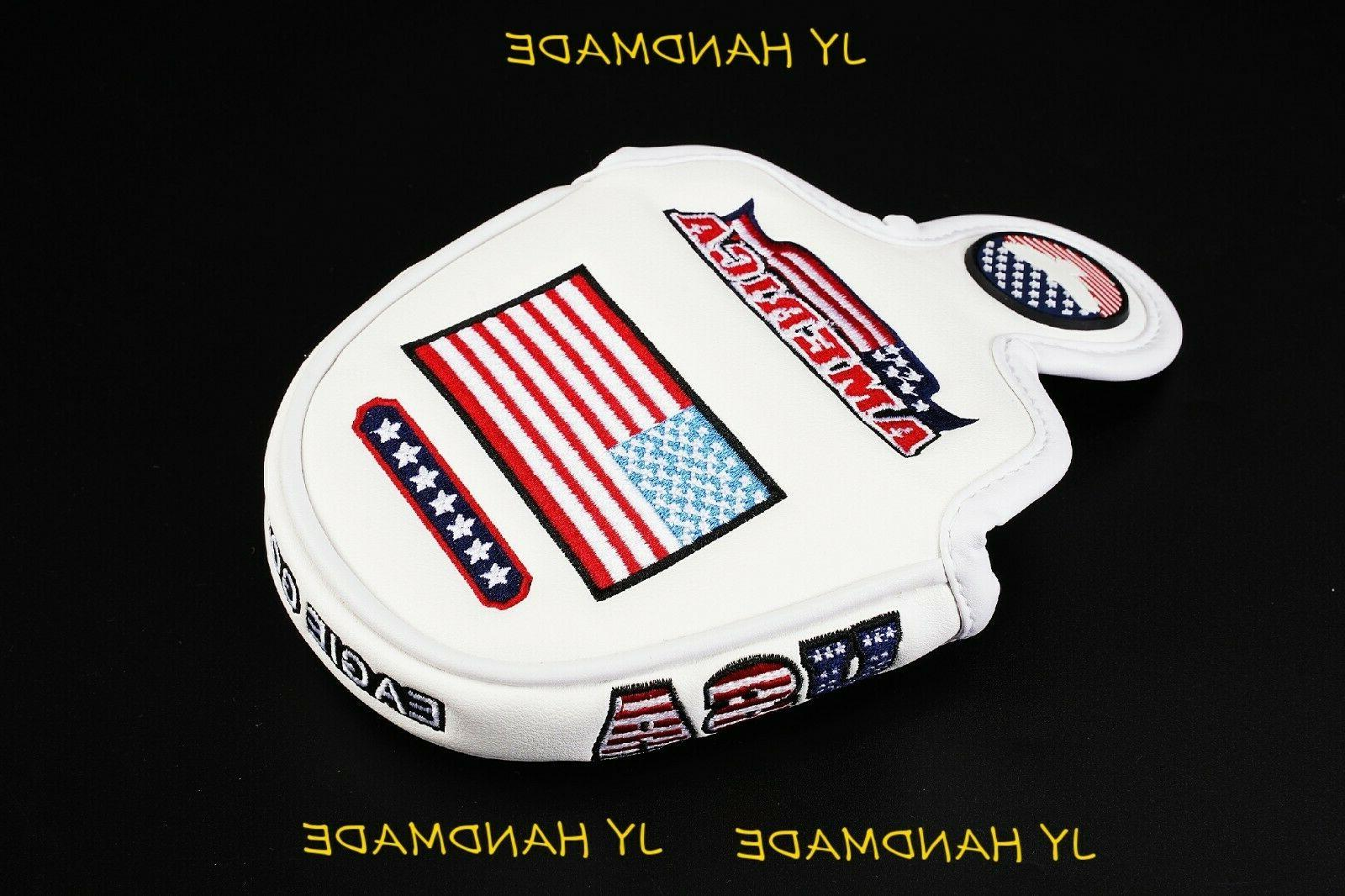AMERICA White Cover Headcover For Cameron Odyssey
