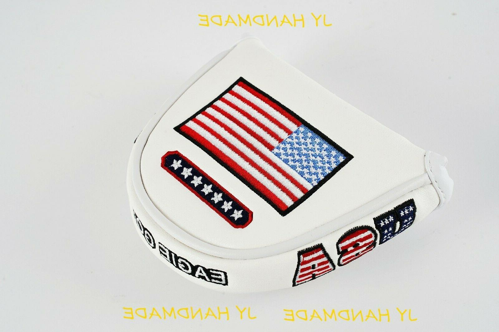 america mallet white putter cover headcover