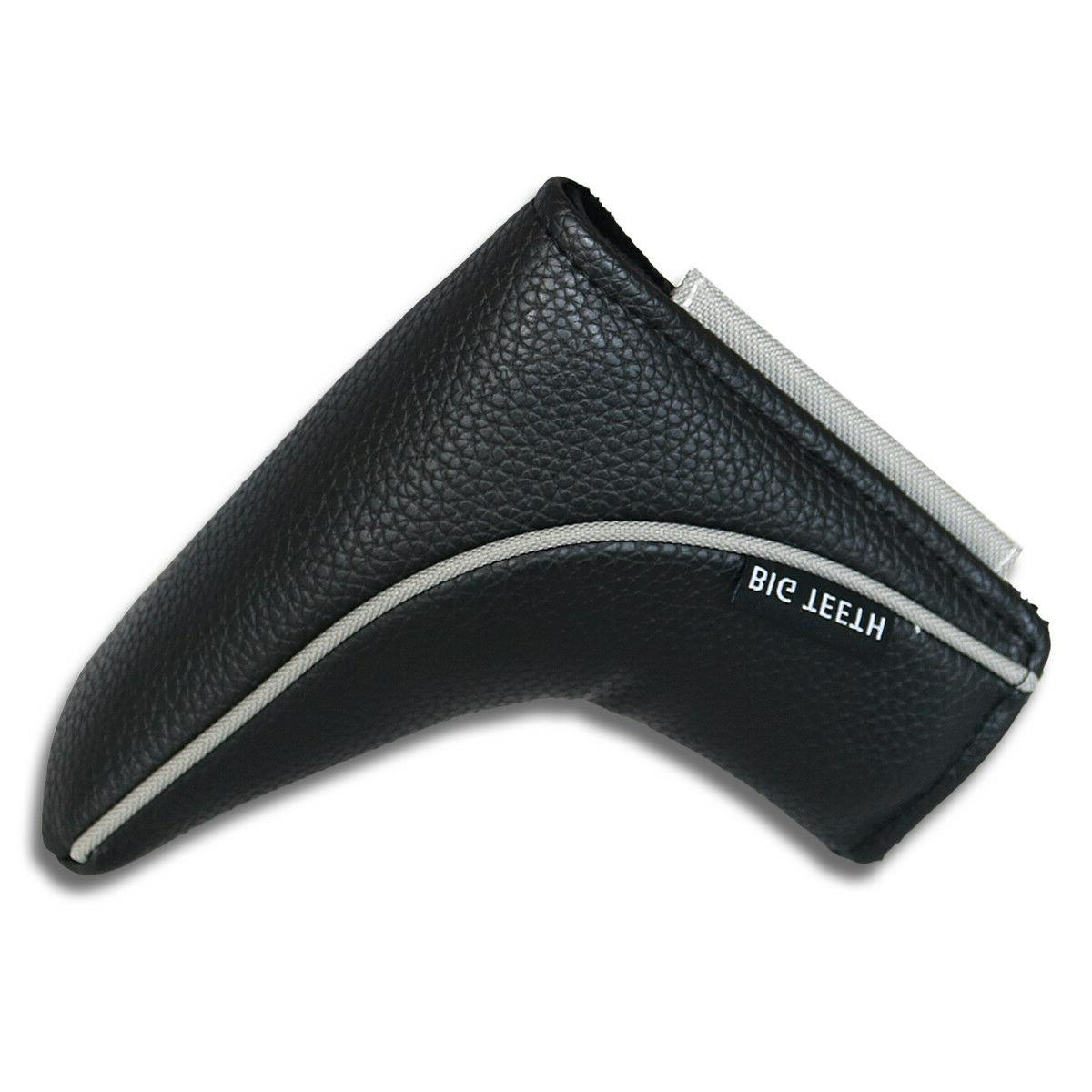 black magnetic golf putter headcover cover