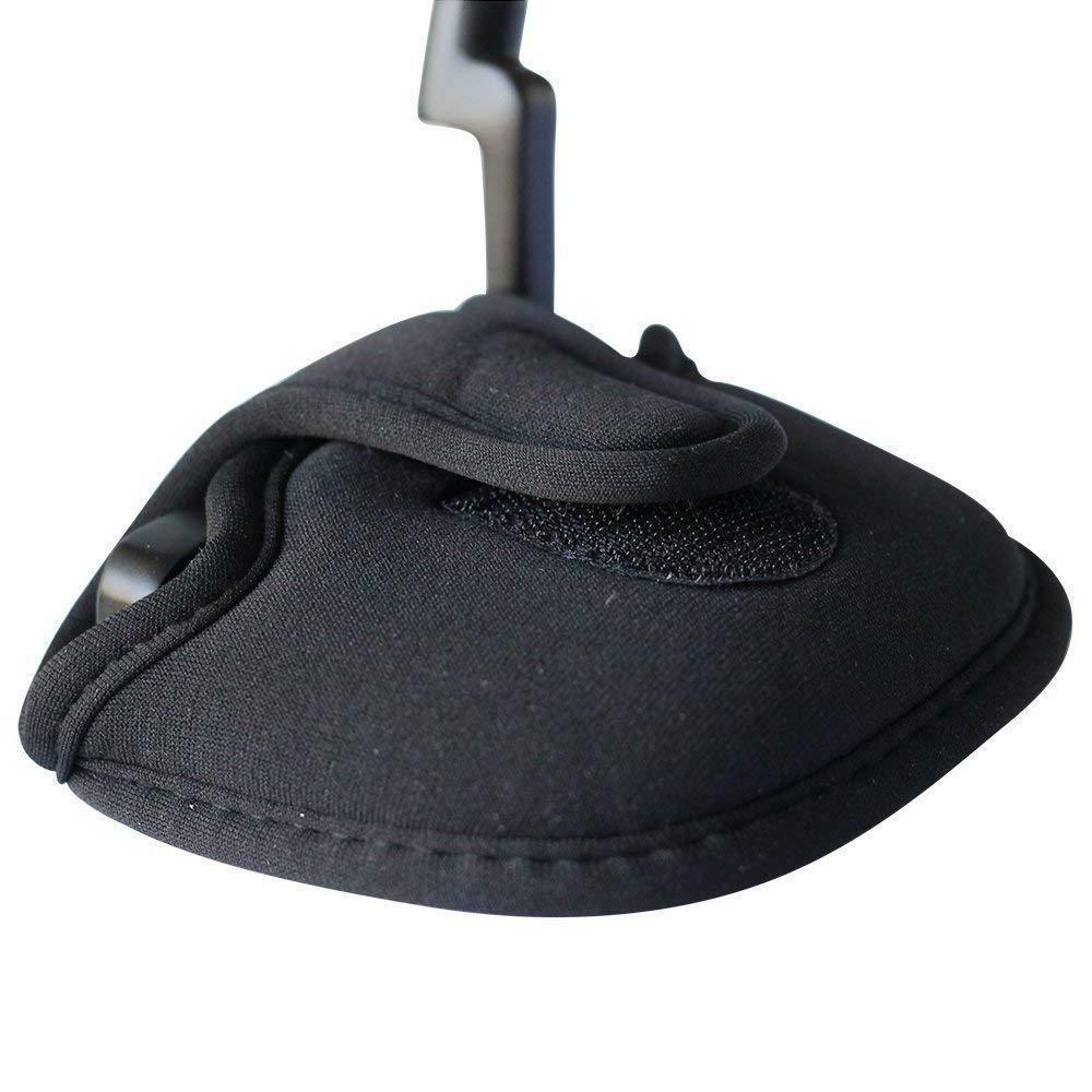 black neoprene mallet putter head cover