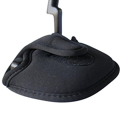 black putter headcover neoprene head