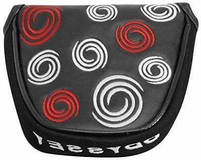 black swirl mallet putter cover