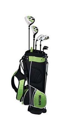 Nitro Crossfire Junior 8 Piece Golf Set, Right Hand, Ages 9-