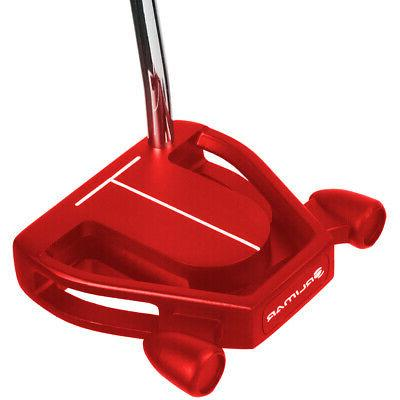 golf black red f80 mallet style putter