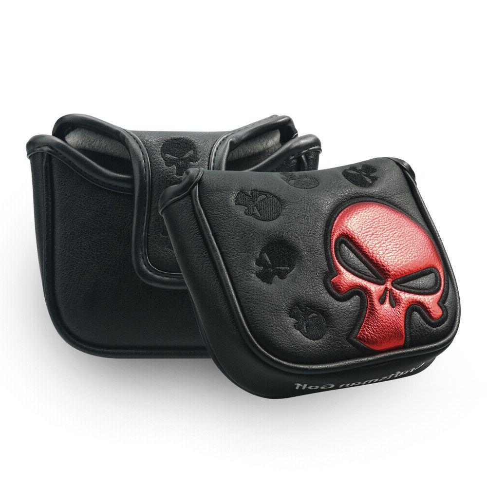 Golf Mallet Putter Headcover Protector Skull New