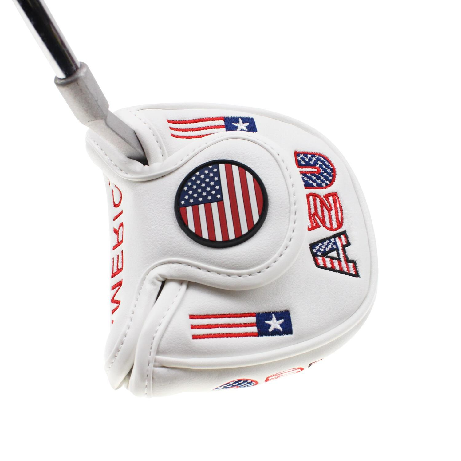 Golf USA America Mallet <font><b>Headcover</b></font> for <font><b>Odyssey</b></font> Design Perfect Quality Head Golf