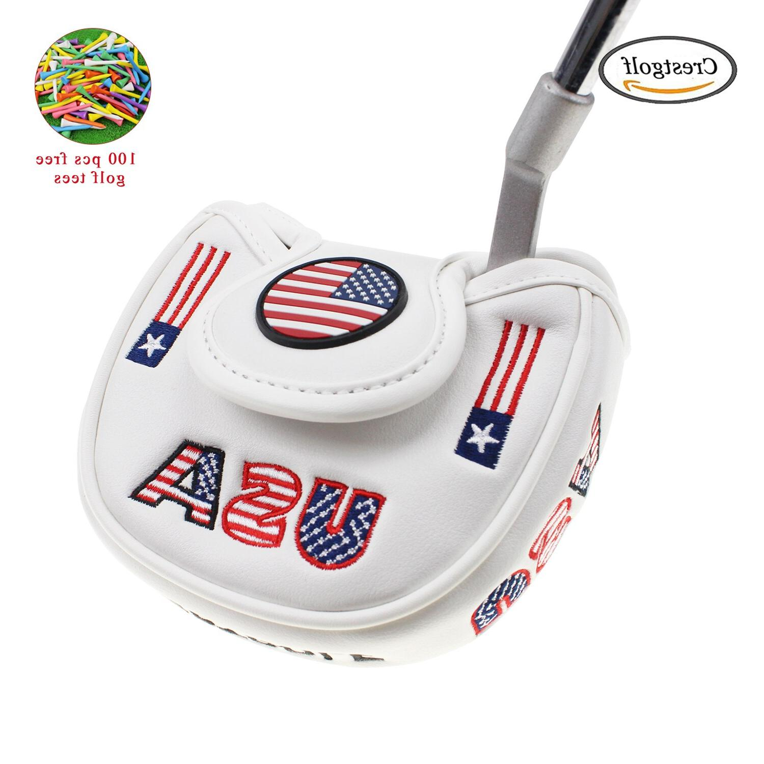 golf putter usa america mallet putter cover