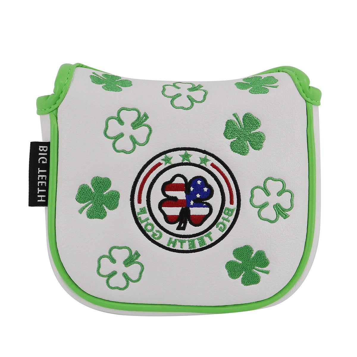 USA Flag Lucky Clover Square Mallet Putter Cover Fit Odyssey