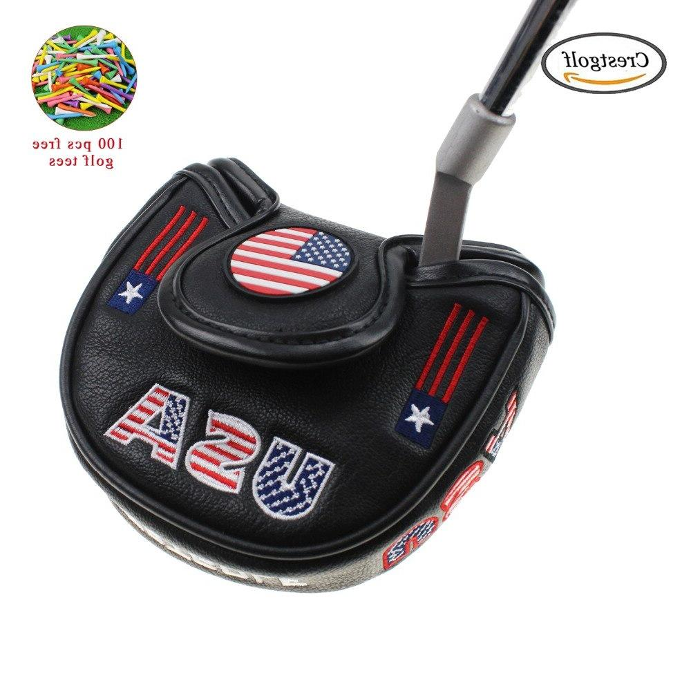 golf usa america mallet putter cover font