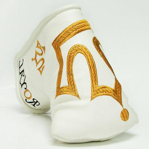 Customshop 911 HeadCover CROWN  WHITE FIT GOLO & Blade PUTTE