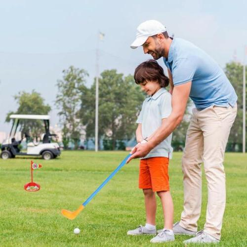 Kids Golf Set Putter Club Child Outdoors Funny Game